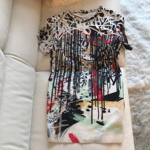 Zara graffiti dress